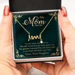 In Your Arms You Held Me Scripted Love Necklace Gift For Mom