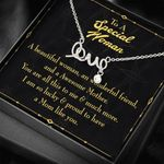 So Luck And Proud To Have A Mom Like You Gift For Mom Scripted Love Necklace