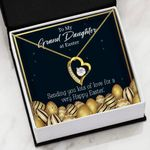 Sending You Lots Of Love Gift For Granddaughter 18K Gold   Forever Love Necklace