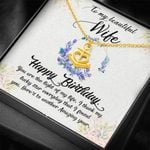 You Are The Light Of My Life Gift For Wife 18K Gold Anchor Necklace