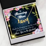 Thanks For Bringing Me Into This World Gift For Mom Scripted Love Necklace