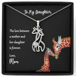 The Love Between A Mother And Her Daughter Giraffe Couple Necklace Mom Gift For Daughter