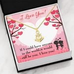 It Would Still Be You Gift For Lover 18K Gold Anchor Necklace