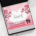 Thank For Making Me Happy Scripted Love Necklace Gift For Lovers