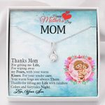 Thanks For Wiping Away My Fears Gift For Mom Love Knot Necklace