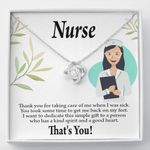 Love Knot Necklace Gift For Nurse Thank For Taking Care Of Me