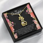 To My Daughter I Am So Proud To Call You Mine Giraffe Couple Necklace