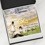 Infinity Heart Necklace Daughter Gift For Mom You Always Have My Heart
