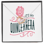 It's My Quinceañera Birthday Interlocking Hearts Necklace Gift For Women