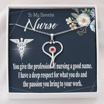 Stethoscope Necklace Gift For Nurse I Have A Deep Respect For You