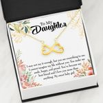To My Daughter My Sweet Baby Girl Infinity Heart Necklace
