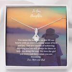 We Love The Girl You Were Gift For Daughter Alluring Beauty Necklace