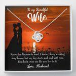 My Day Starts And Ends With You Gift For Wife Love Knot Necklace