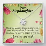 Love Knot Gift For Stepdaughter Thicker Than Blood