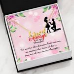 You Are Always In My Thoughts Gift For Lover Scripted Love Necklace