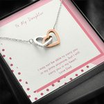 Interlocking Hearts Necklace Dad Gift For Daughter Carry You In My Heart