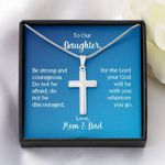 Parents Gift For Daughter Artisan Crafted Cross Necklace Wherever You Go