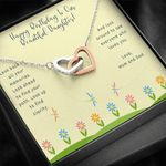 Interlocking Hearts Necklace Birthday Gift For Daughter Look Up To Find Clarity