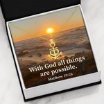 With God All Things Are Anchor Necklace