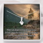 When I Am Afraid Message Card Alluring Beauty Necklace Gift For Women