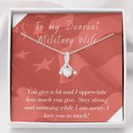 Stay Strong And Amazing Gift For Military Wife Alluring Beauty Necklace