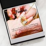 Love You Through Good Times And Hard Times Gift For Fiancee 18K Gold   Forever Love Necklace