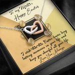 Happy Easter Love You Always Interlocking Hearts Necklace Gift For Mom