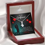 To My Girlfriend Fate Meeting Alluring Beauty Necklace With Gift Box
