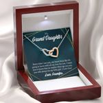 Interlocking Hearts Necklace Gift For Granddaughter Every Time Grandpa Sees You
