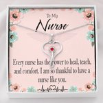 Stethoscope Necklace Gift For Nurse So Thankful To Have You