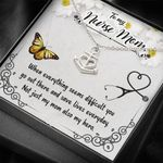 Not Just My Mom Also My Hero Gift For Nurse Mom Anchor Necklace