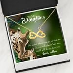 Mom Will Always Have You Gift For Daughter 18K Gold Infinity Heart Necklace