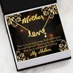 Thank For Being There Scripted Love Necklace Gift For Mom
