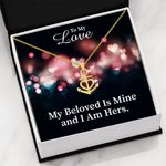 To My Love My Beloved Is Mine Anchor Necklace