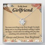 Love Knot Necklace Gift For Girlfriend You Mean Everything To Me