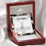 Never Forget How Much I Love You Gift For Daughter 14K White Gold Alluring Beauty Necklace