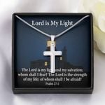 Lord Is My Light Gift For Christian Artisan Crafted Cross Necklace