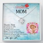 Thanks For Filling My Life With Rainbow And Colors Gift For Mom Love Knot Necklace