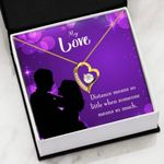 When Someone Means So Much 18K Gold Forever Love Necklace Gift For Lovers Forever Love Necklace Forever Love Necklace
