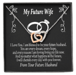Interlocking Hearts Necklace Gift For My Future Wife Cherish You