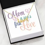 Mom A Son's First Love Scripted Love Necklace Gift For Mom