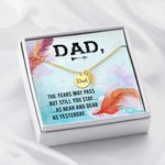 Still You Stay As Near Gift For Angel Dad Remembrance Angel Wing Necklace