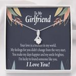 Message Card Alluring Beauty Necklace Gift For Girlfriend You Are My Treasure