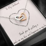 Thank For Putting A Smile On My Face Interlocking Hearts Necklace Gift For Lovers