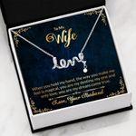 You Are My Dream Come True Gift For Wife Scripted Love Necklace