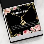 Thanks For Bringing My Husband Into This World Gift For Mother In Law Anchor Necklace
