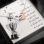 Interlocking Hearts Necklace Gift For Athlete Wife The Strength In Your Soul