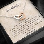 Nana Gift for Granddaughter I Am So Proud Of You Interlocking Hearts Necklace