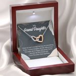Interlocking Hearts Necklace Gift For Granddaughter You Make Me So Proud