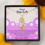 So Thrilled For You Giraffe Couple Necklace Gift For Mom To Be